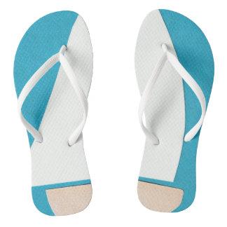 Blue and White Flip-flops Flip Flops