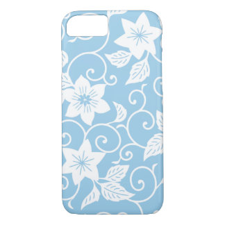 Blue and White Floral iPhone 7 case