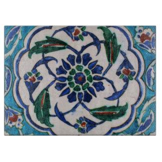 Blue and white floral Ottoman era tile design Boards