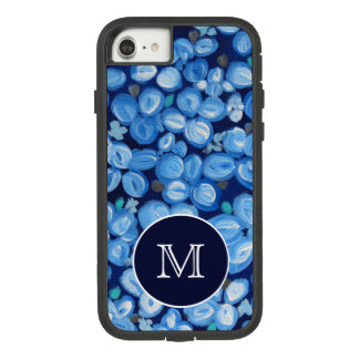 Blue and White Floral With Monogram Case-Mate Tough Extreme iPhone 8/7 Case
