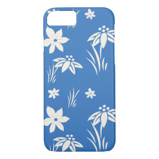 Blue and white flower pattern iPhone 8/7 case