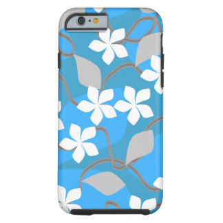 Blue and White Flowers. Floral Pattern. Tough iPhone 6 Case