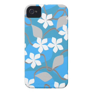 Blue and White Flowers. Floral Pattern. iPhone 4 Covers