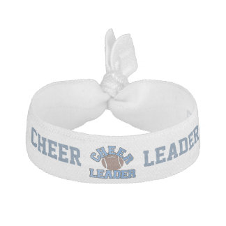 Blue and White Football Cheerleader's Head Band Hair Tie