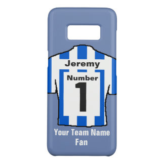Blue and white Football Shirt Choose name and team Case-Mate Samsung Galaxy S8 Case