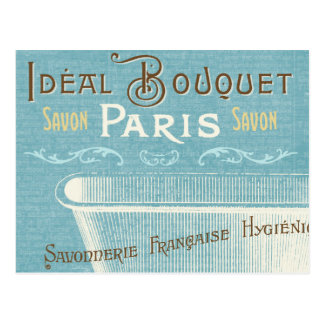 Blue and White French Bathtub Postcard