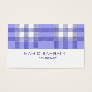Blue and white Geometric design Business Card