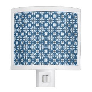 Blue And White Geometric Design Night Light