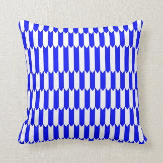 Blue and white Geometric pattern Throw Pillow