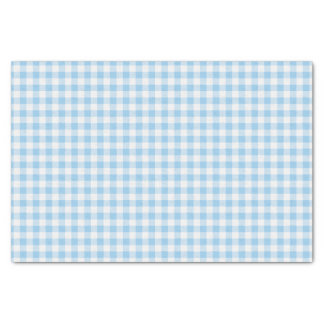 Blue and white Gingham plaid Tissue Paper