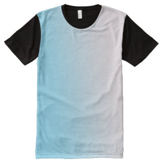 Blue and White Gradient All-Over-Print T-Shirt