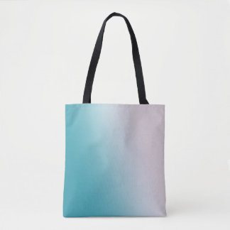 Blue and White Gradient Tote Bag