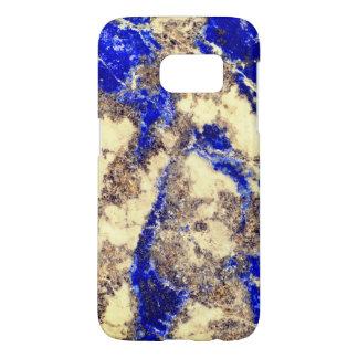 Blue and white granite samsung galaxy s7 case