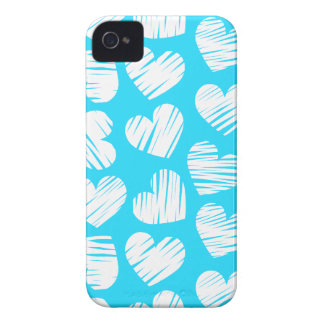 Blue and white hearts BlackBerry Bold Case