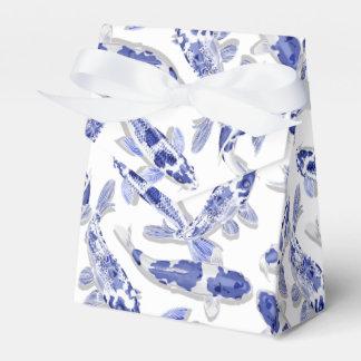 Blue and white Koi Favor Box