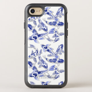 Blue and white Koi OtterBox Symmetry iPhone 8/7 Case