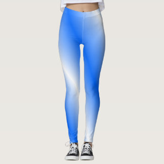 Blue and White Leggings