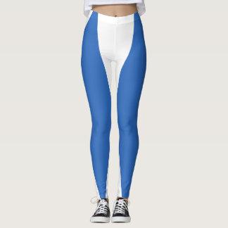 Blue and White Leggings