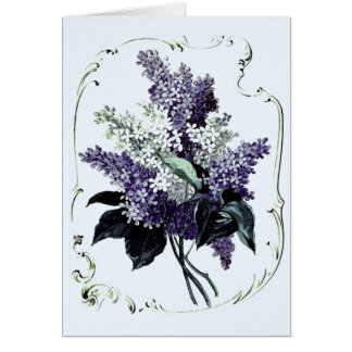 Blue and White Lilacs Card
