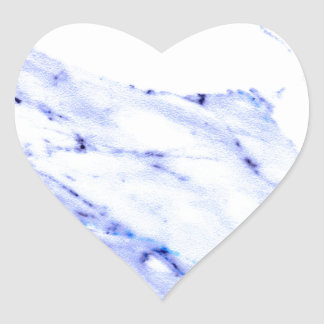 Blue and white marble heart sticker