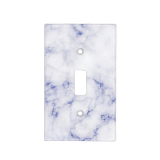 Blue and White Marble Light Switch Cover
