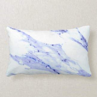 Blue and White Marble Lumbar Pillow