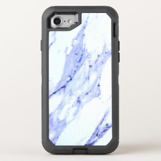 Blue and White Marble OtterBox Defender iPhone 7 Case