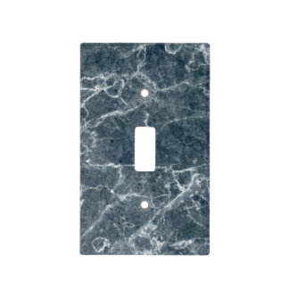 Blue And White Marble Pattern Light Switch Cover