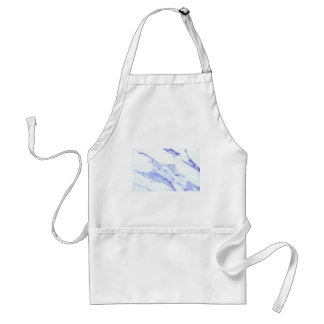 Blue and white marble standard apron