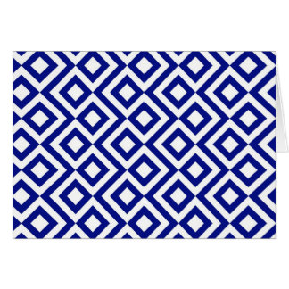 Blue and White Meander Card