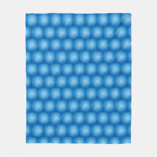 Blue And White Modern Abstract Pattern Fleece Blanket