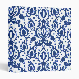 Blue and White Moroccan Casbah Damask Binders