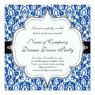 Blue and White Moroccan Damask Card