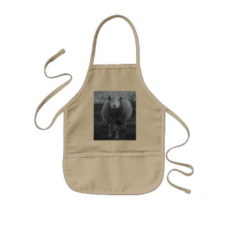 Blue and White  Mother sheep Kids Apron