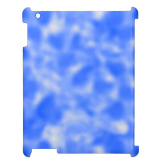Blue and White Mottled Case For The iPad 2 3 4
