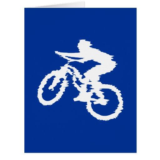 Blue and White Mountain Bike Card
