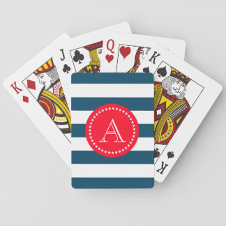 Blue and white navy pattern playing cards