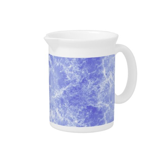 Blue and White Ocean Clouds Drink Pitchers