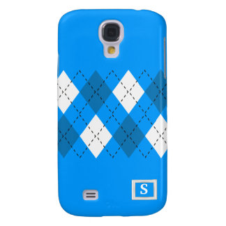 Blue And White On Blue Argyle iPhone3 Case