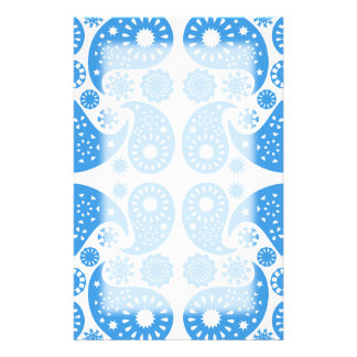 Blue and White Paisley Pattern. Stationery