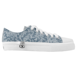 Blue and White Pattern Canvas Shoes