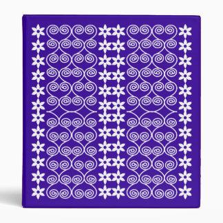 Blue And White Patterned Designer binder