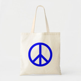 Blue and White Peace Symbol