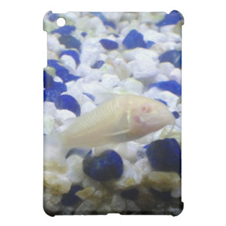 Blue and white pebbles and Albino cat fish Cover For The iPad Mini