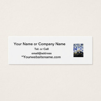 Blue and white pebbles and Albino cat fish Mini Business Card