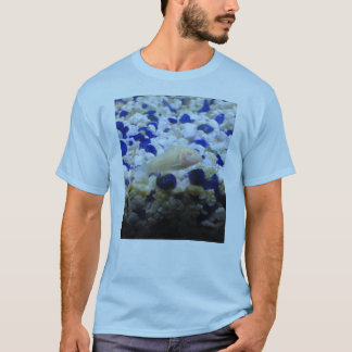Blue and white pebbles and Albino cat fish T-Shirt