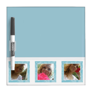 Blue And White: Picture Dry Erase Board