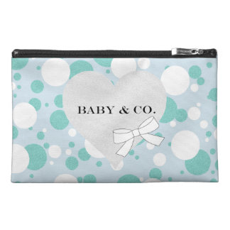 Blue and White Polka Dot Baby Party Accessory Bag