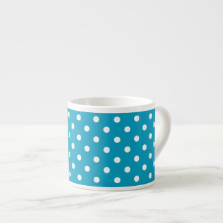 Blue And White Polka Dot Pattern