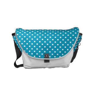 Blue And White Polka Dot Pattern Commuter Bags